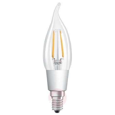 LED flame tip bulb E14 5 W, warm white, dimmable