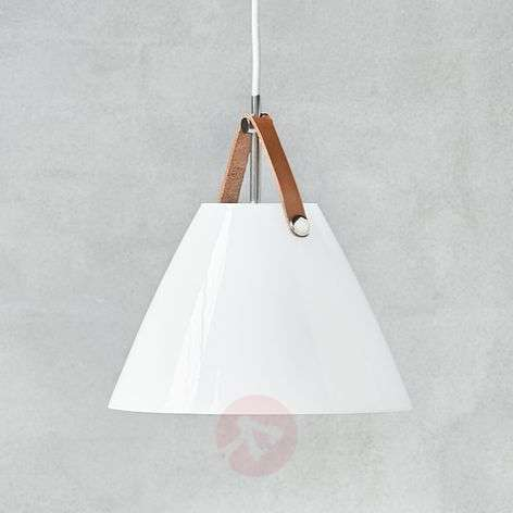 LED glass pendant light Strap 27 m, leather straps-7006017-31