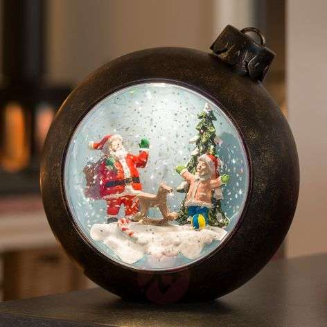 LED globe Santa Claus with children, with water-5524865-31