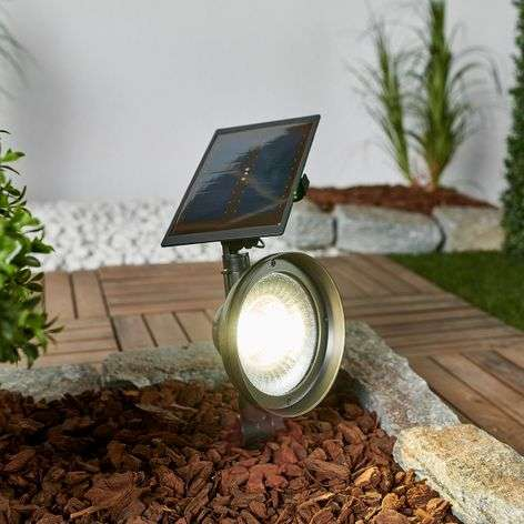 LED ground spike light Riley with solar panel-2610034-31