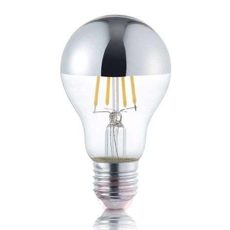 LED half mirror bulb E27 4 W, warm white