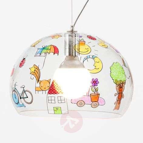LED hanging light FL/Y Kids, children's drawing