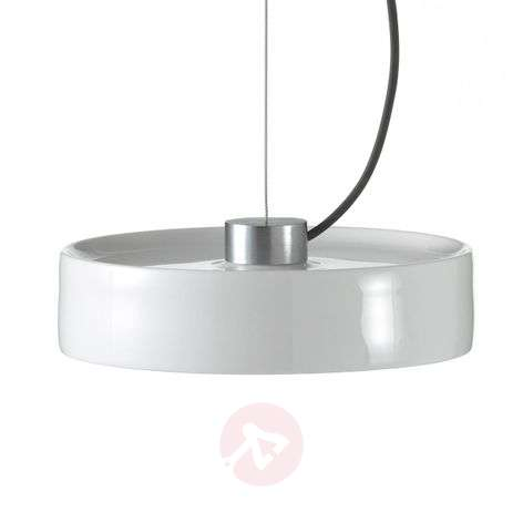 LED hanging light Maru with porcelain lampshade