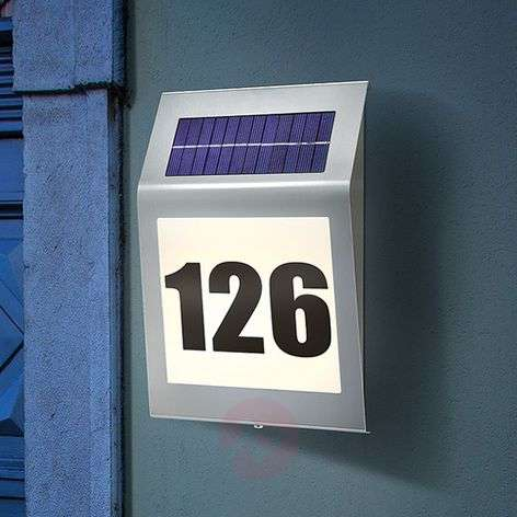 LED house number light Style with solar module