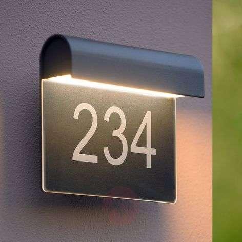 LED house number light Thesi, black