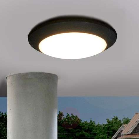LED outdoor ceiling light Berta, black, 11W 3,000K-3538055-35