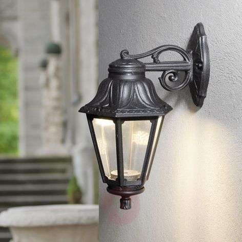 LED outdoor wall lamp Bisso Anna black downwards