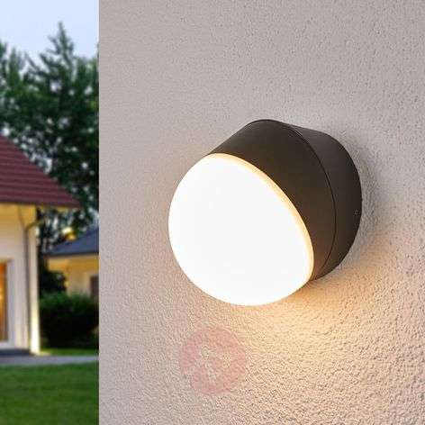 LED outdoor wall lamp Fjodor with a round shape