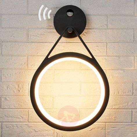 LED outdoor wall lamp Mirco with sensor, ring