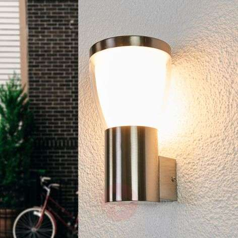 LED outdoor wall lamp Selma, stainless steel-9647086-31