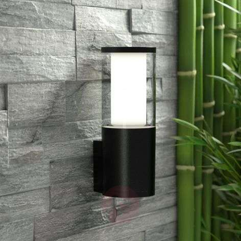 LED outdoor wall light Carlo, black