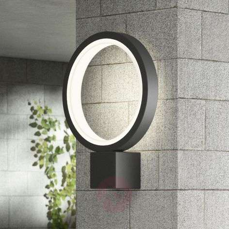 LED outdoor wall light Ring, graphite grey