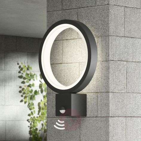 LED outdoor wall light Ring, graphite grey, sensor