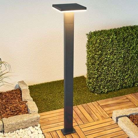 LED path lamp Olesia in dark grey