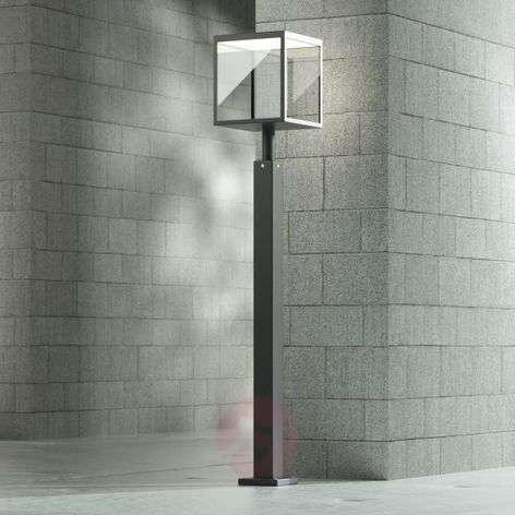 LED path light Cube, graphite grey, IP54, 100 cm
