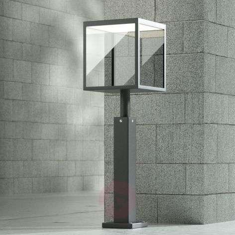 LED path light Cube, graphite grey, IP54, 60 cm