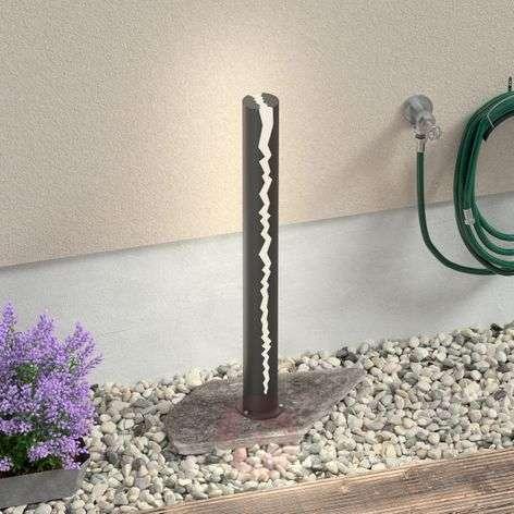 LED path light Keke in dark grey, 100 cm