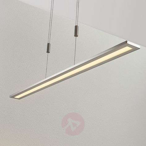 LED pendant lamp Esteban in nickel, dimmable