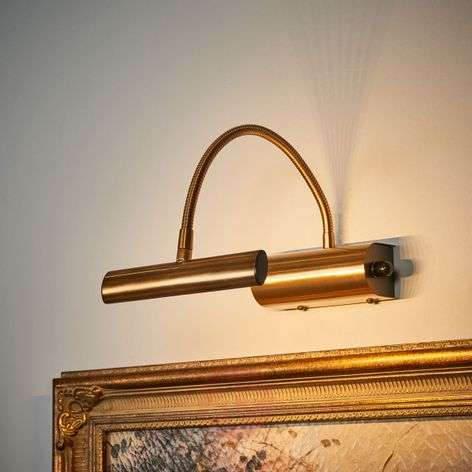 LED picture light Curtis in antique brass, dimmer