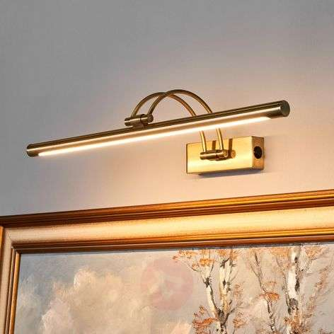 LED picture light Vincenza in antique brass