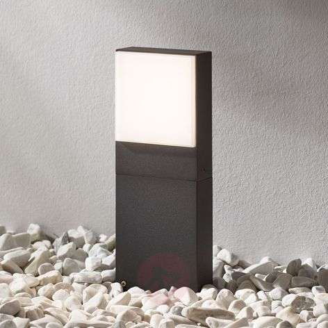 LED pillar lamp Lynda in dark grey, 30 cm