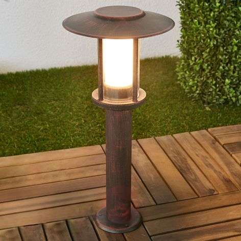 LED pillar lamp Pavlos in rust