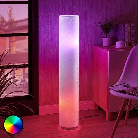 LED RGB floor lamp Alwine with spots