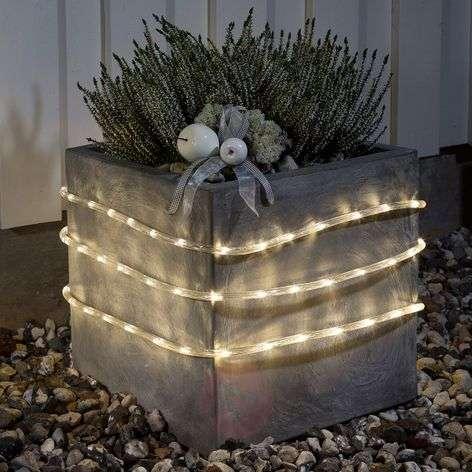 LED rope light 6m outdoors sensor 96 blb ww batt.