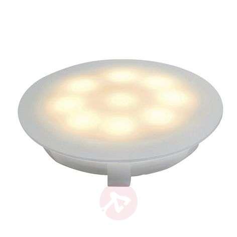 LED satin-finished recessed light, 1 W warm white