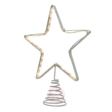 LED silhouette tree top metal star