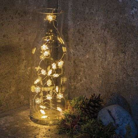 LED snowflake fairy lights Nynne with 20 lights