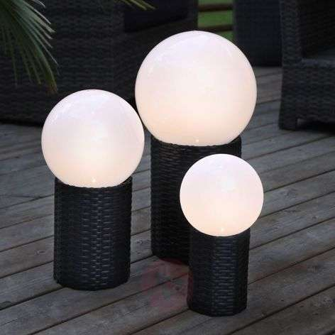 LED solar globe Lug with base