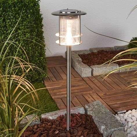 LED solar light Kristian, stainless steel frame