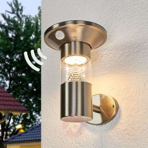 LED solar wall light Jalisa, sensor