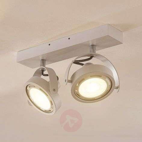 LED spotlight Munin, dimmable, white, two-bulb