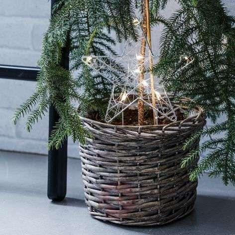 LED star for flower ports - Gardener