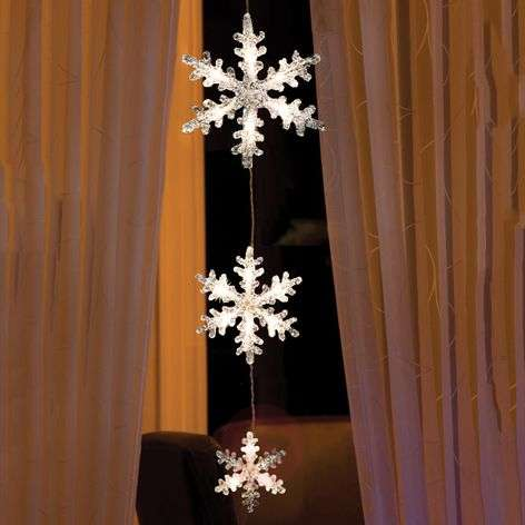 LED string lights Snowflakes