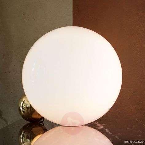 LED table lamp Copycat, white-gold