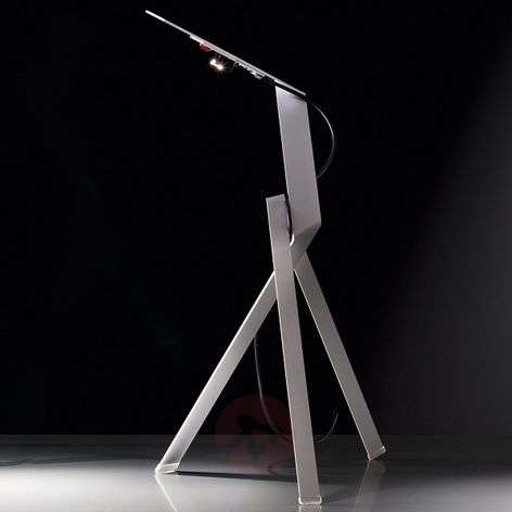 LED table lamp Jetzt² in an abstract design