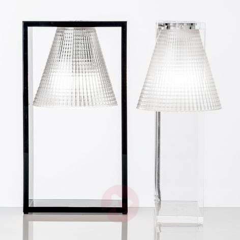 LED table lamp Light-Air, black and transparent