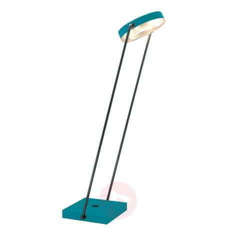 LED table lamp TUNE-TS with touch dimmer turquoise