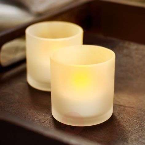LED Tealights, set of 2 for cosy atmosphere
