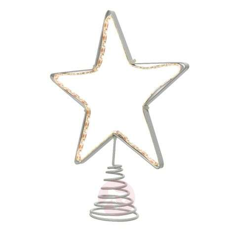 LED tree top metal star