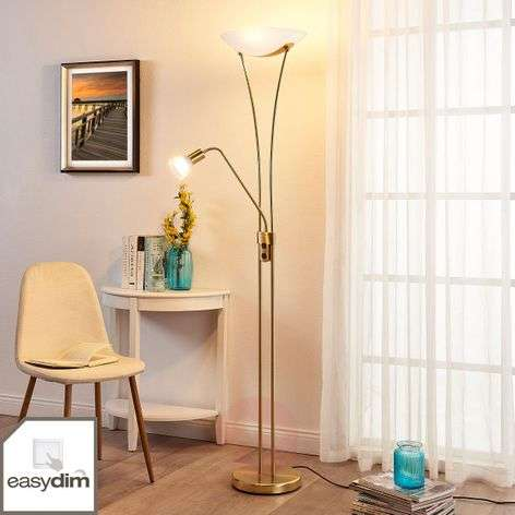 LED uplighter Felicia with reading arm, dimmable