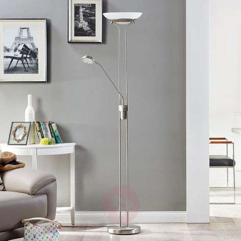 LED uplighter Yveta with a reading lamp-9620910-31