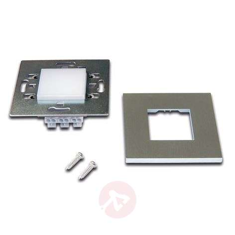 LED Wall F recessed wall light stainl.steel finish