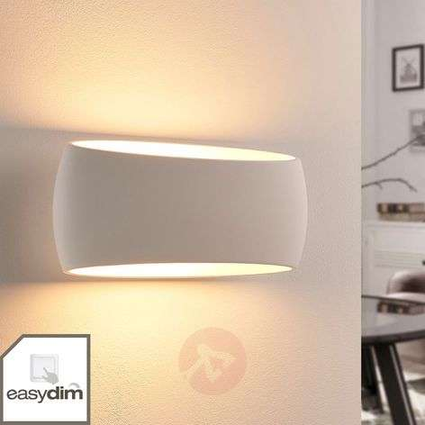 LED wall lamp Guida, plaster, Easydim