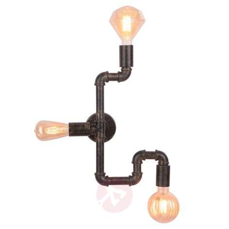 LED wall lamp Leonas in the form of a water pipe