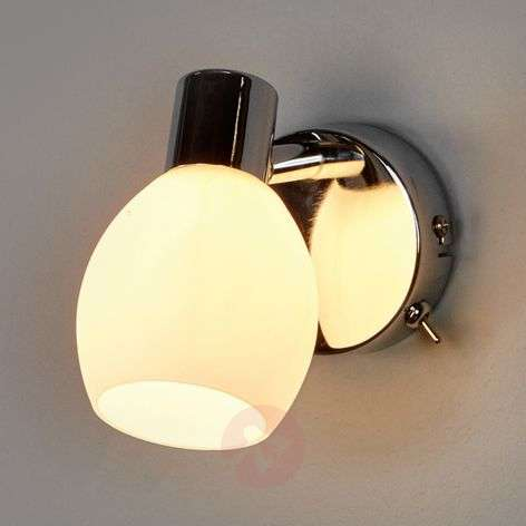LED wall light Aidan with glass lampshade
