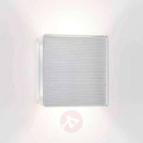 LED wall light App with ribbed front